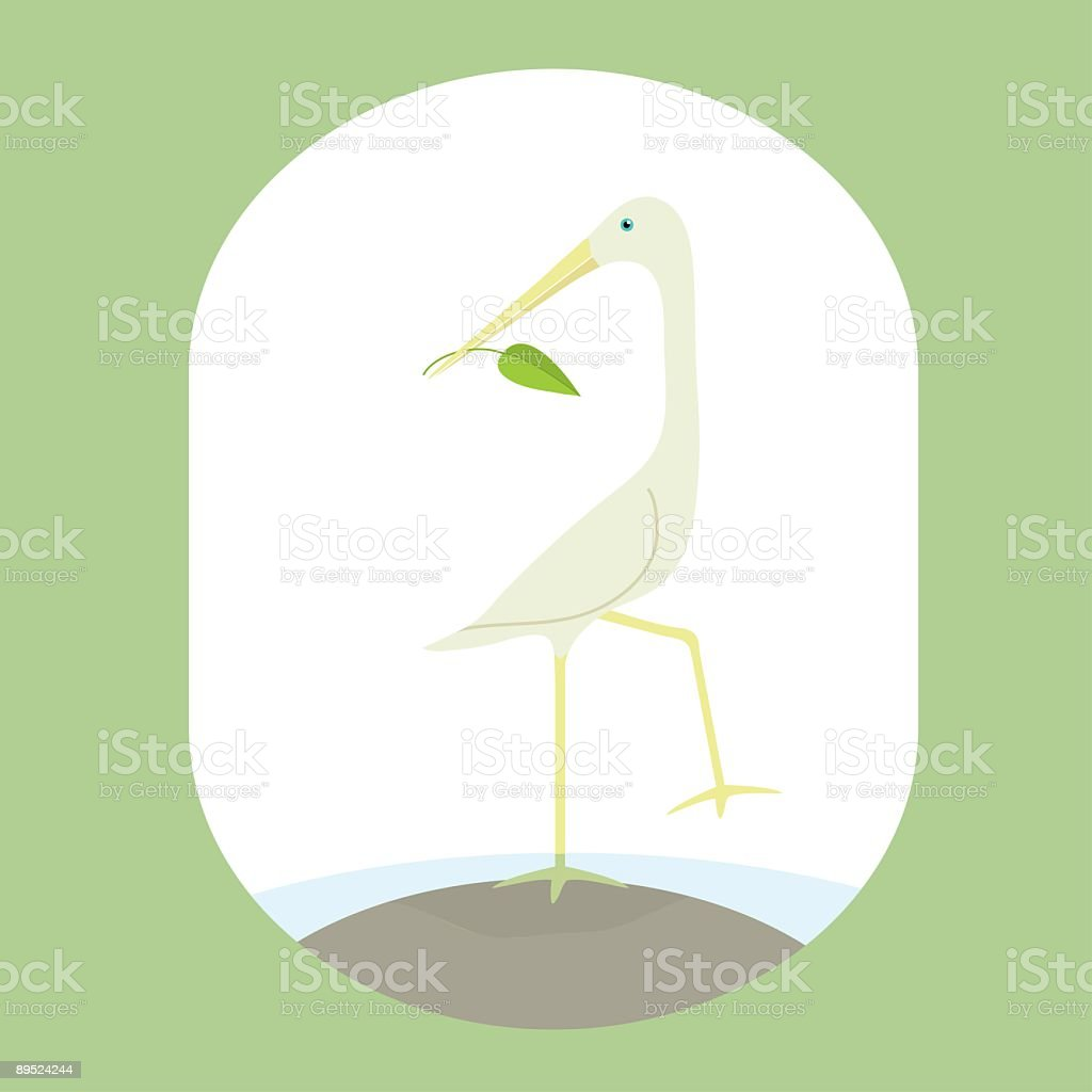 Heron Tranquil Scene royalty-free heron tranquil scene stock vector art & more images of animal