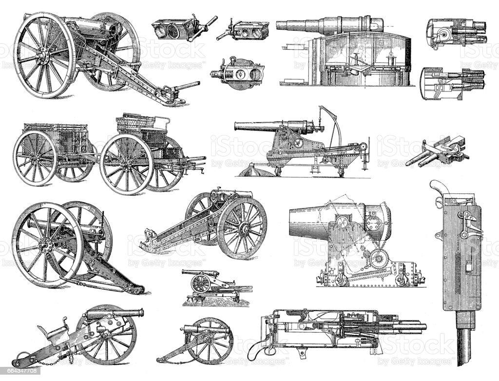 Hevy artillery vector art illustration
