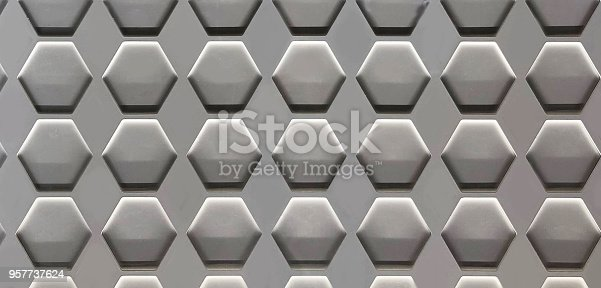 istock Hexagon Cell Background 957737624