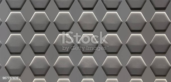 istock Hexagon Cell Background 957737626