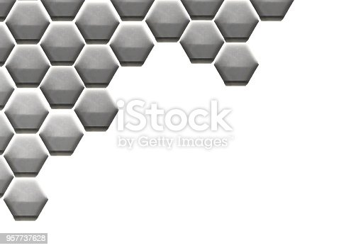 istock Hexagon Cell Background 957737628