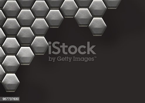 istock Hexagon Cell Background 957737630