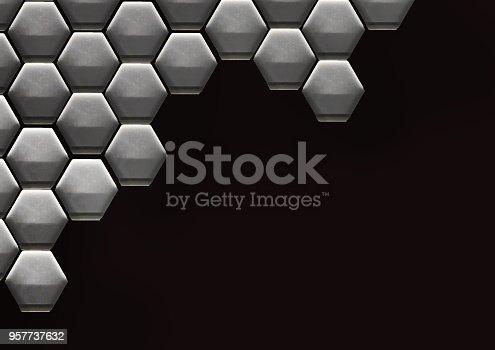 istock Hexagon Cell Background 957737632