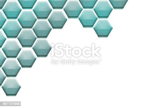 istock Hexagon Cell Background 957737656