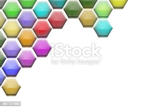istock Hexagon Cell Background 957737660