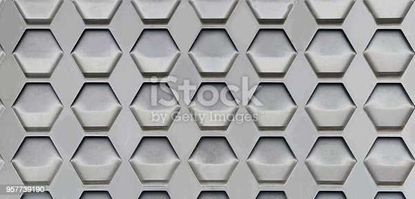 istock Hexagon Cell Background 957739190