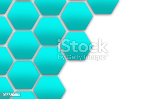 istock Hexagon Cell Background 957739680