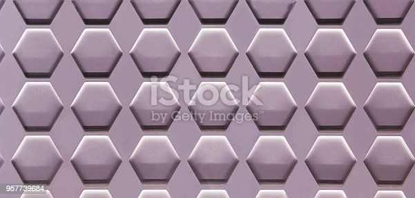 istock Hexagon Cell Background 957739684