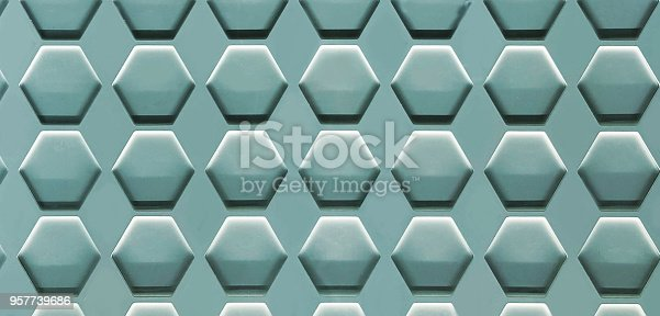 istock Hexagon Cell Background 957739686
