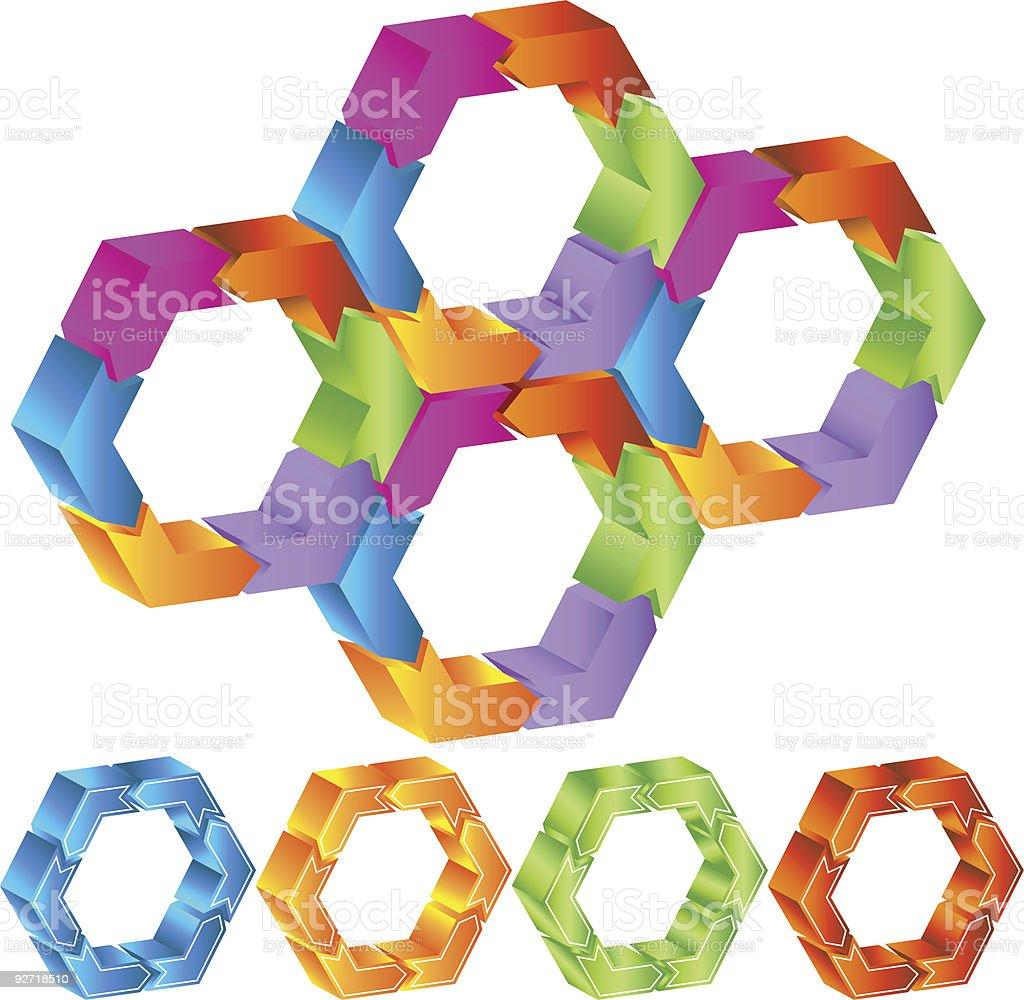Hexagon royalty-free stock vector art