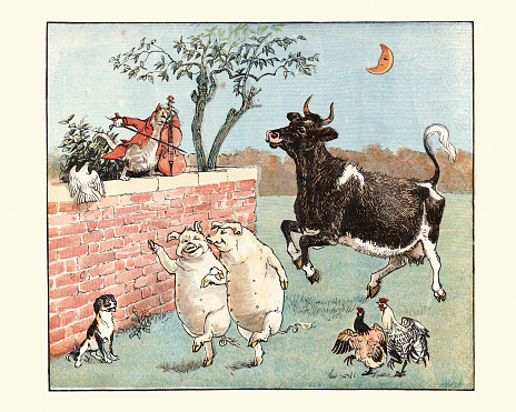 Hey Diddle Diddle, The Cat and the Fiddle, Nursery Rhyme