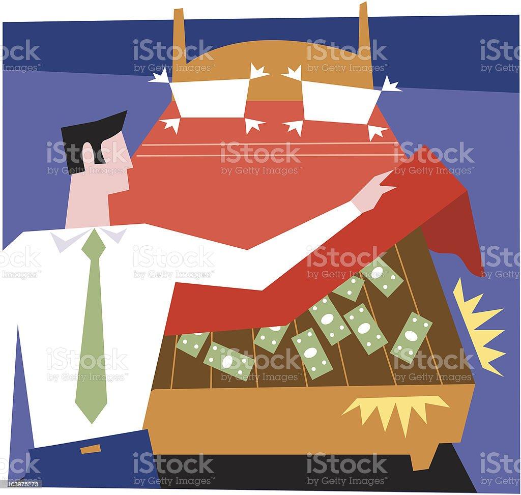 Hidden money vector art illustration