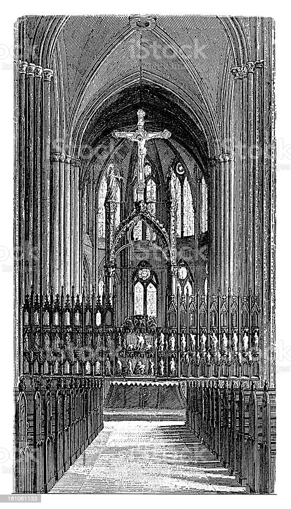 High altar of St Elisabeth Church in Marburg, Germany royalty-free stock vector art