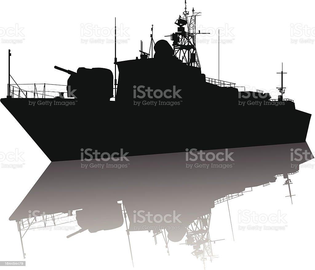 Ilustración de Barco Silueta De Alta Detallada y más banco de ...