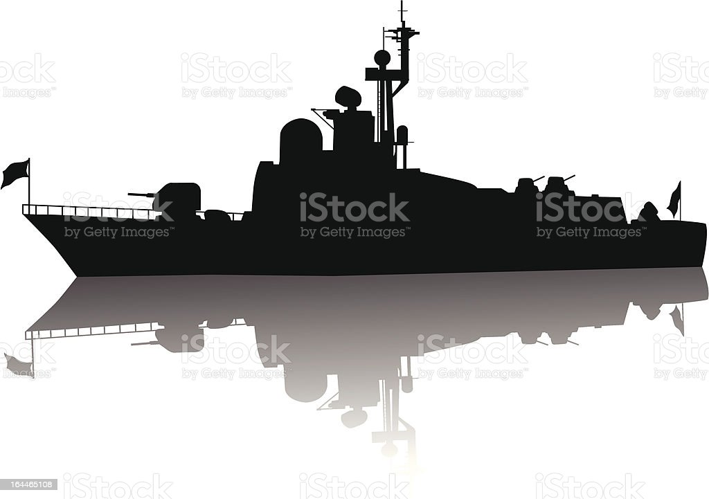 High detailed ship silhouette royalty-free stock vector art