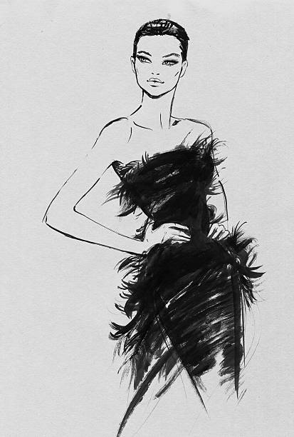 High fashion vector art illustration