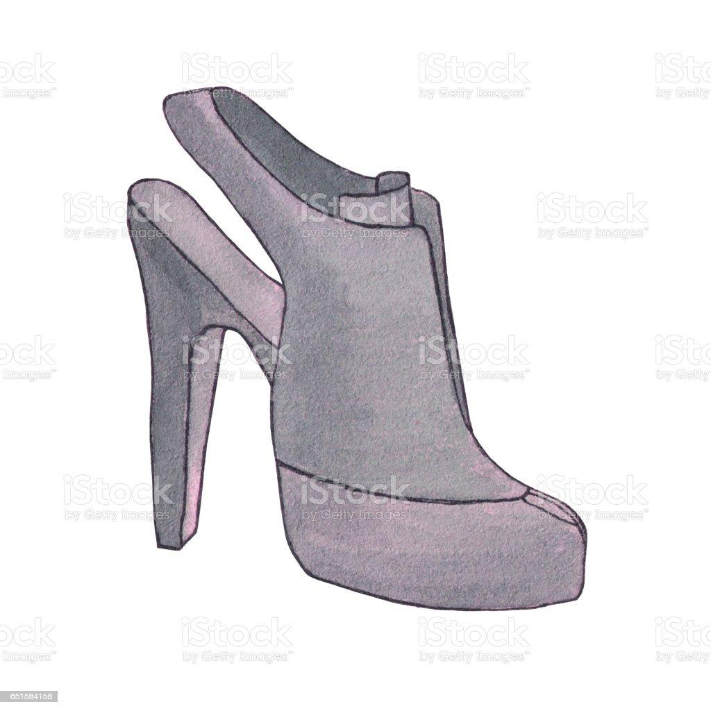 Alto Zapato Con Ilustración De Mujer Zapatos Tacón Ok8wPXn0
