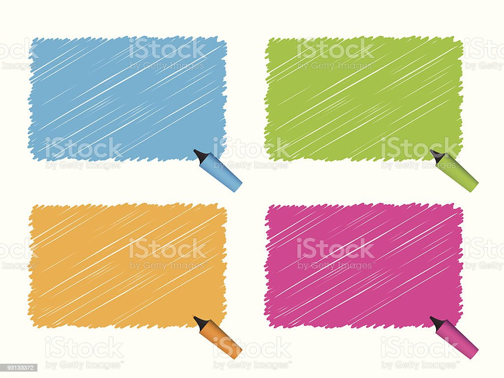 Highlighter Pen Series royalty-free highlighter pen series stock vector art & more images of abstract