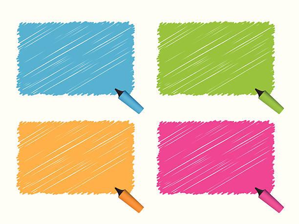 Highlighter Pen Series vector art illustration