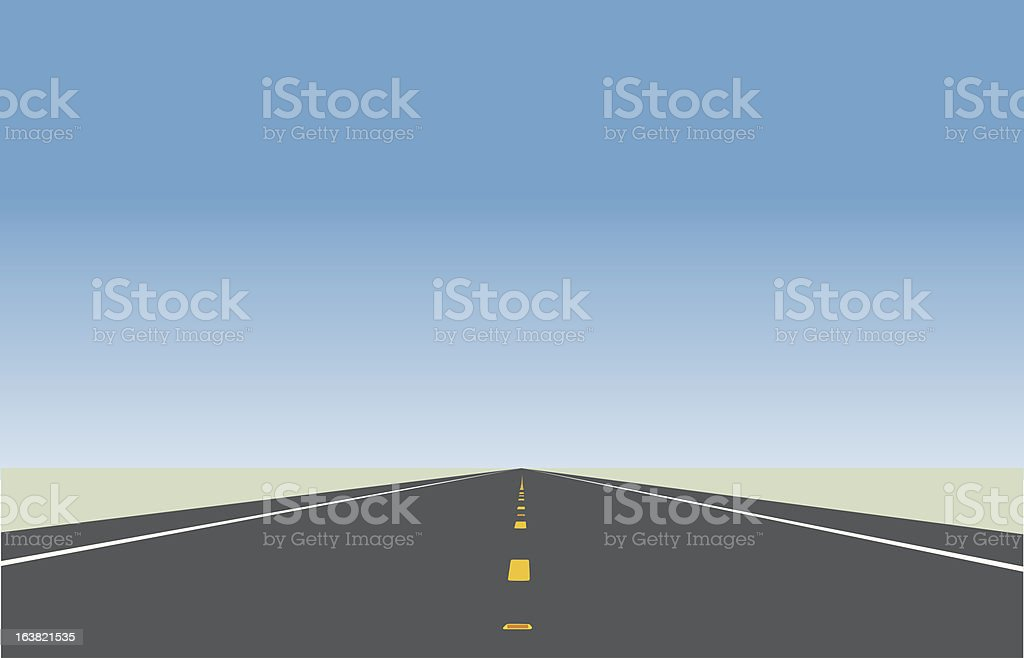 Highway illustration. royalty-free stock vector art