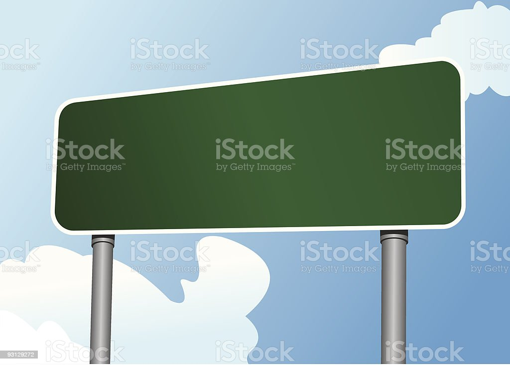 Highway Sign 7 royalty-free stock vector art