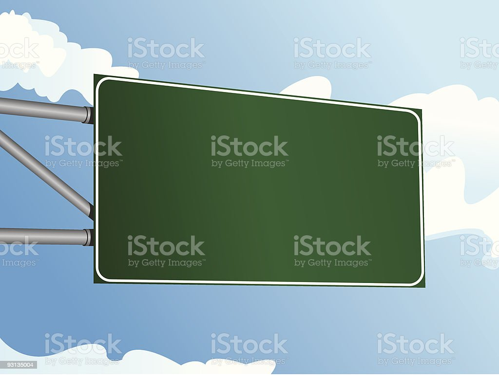 Highway Sign 9 royalty-free highway sign 9 stock vector art & more images of aluminum