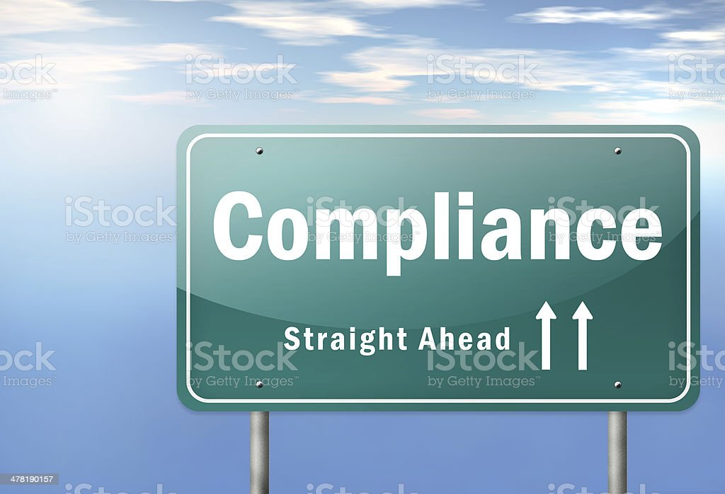 Highway Signpost Compliance royalty-free stock vector art