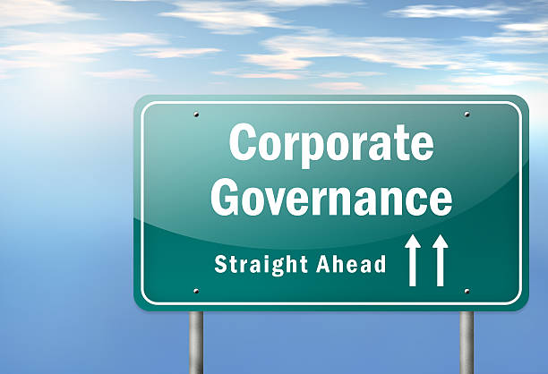Highway Signpost Corporate Governance vector art illustration