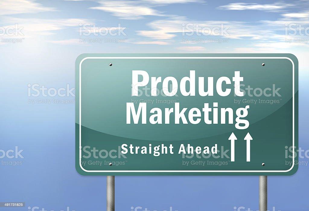 Highway Signpost Product Marketing vector art illustration