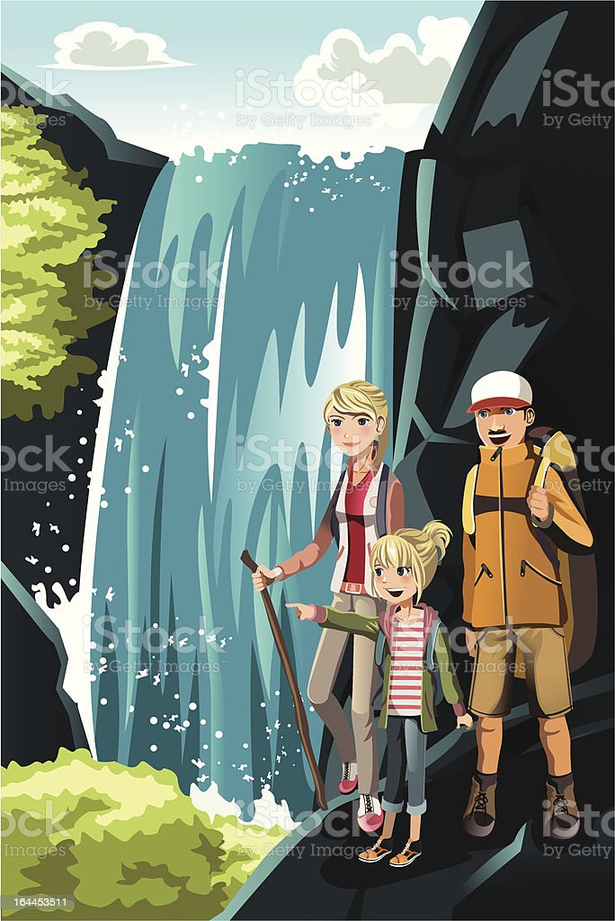 Hiking family royalty-free hiking family stock vector art & more images of activity