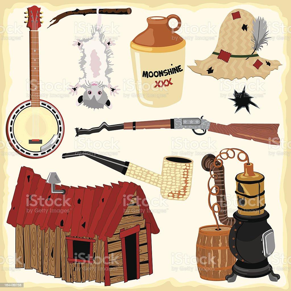 Pajuerano iconos - ilustración de arte vectorial