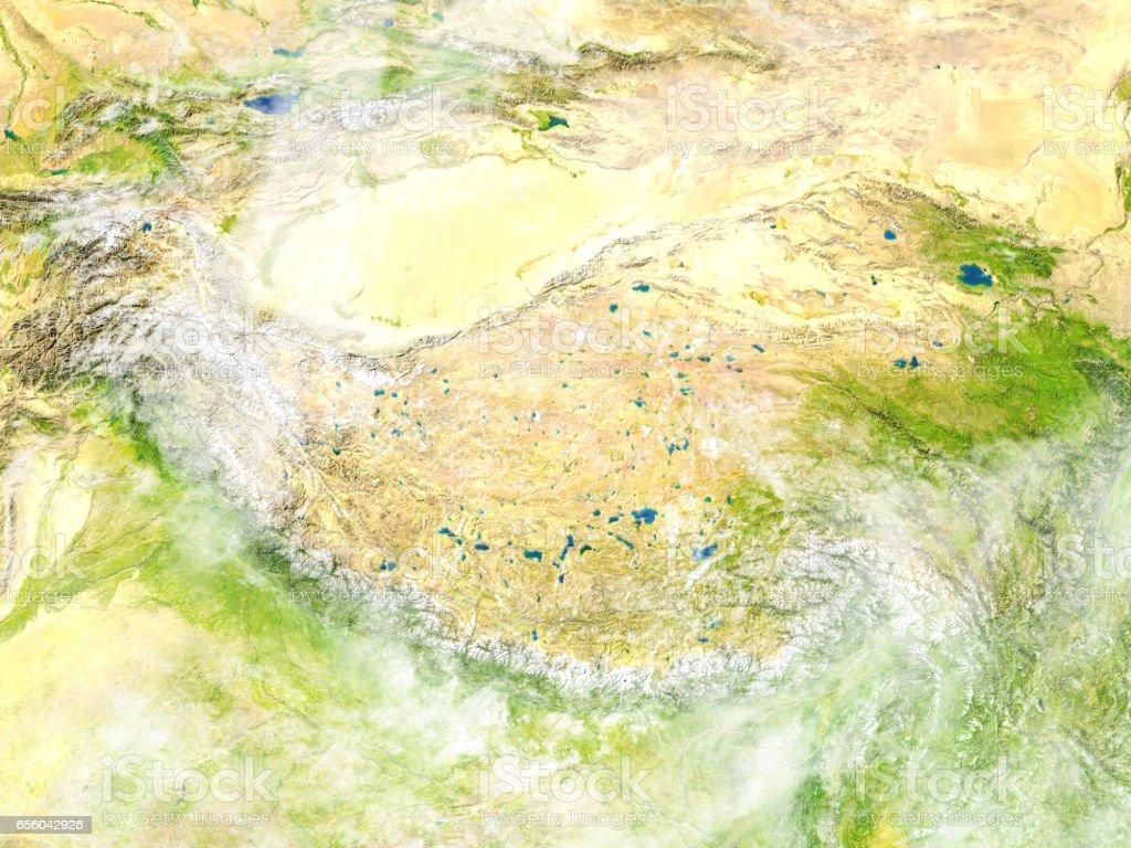 Himalayas on planet Earth vector art illustration