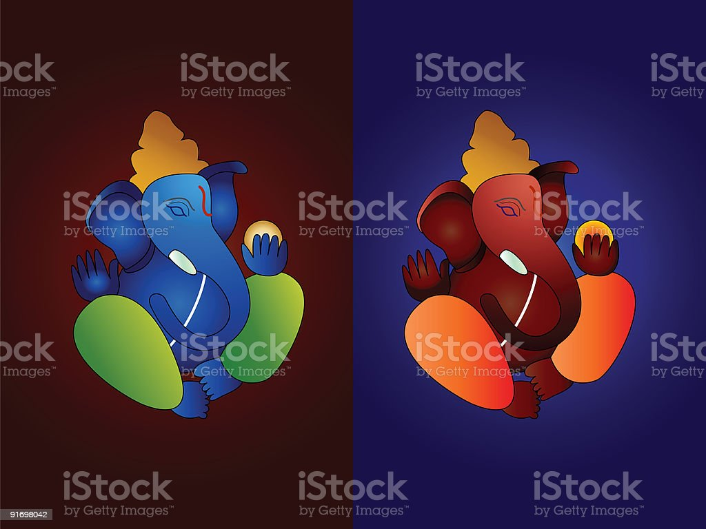 Hindu God ganesh royalty-free stock vector art