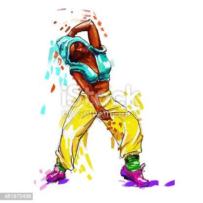 Ilustración de Bailarina De Hip Hop y más banco de imágenes de 2015 ...