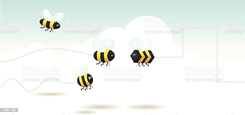 Бедро Пчела Площадь - Векторная графика Без людей роялти-фри