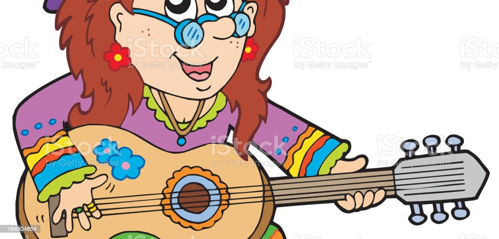 Hippie guitar player royalty-free hippie guitar player stock vector art & more images of adult