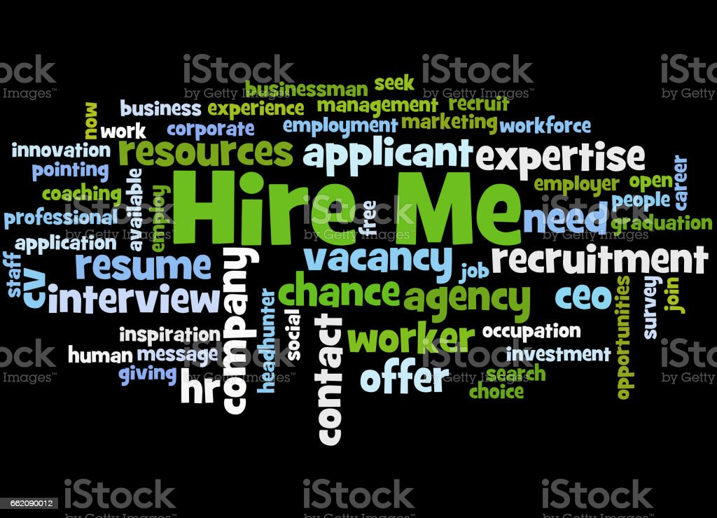 Hire Me, word cloud concept 2 royalty-free hire me word cloud concept 2 stock vector art & more images of business finance and industry
