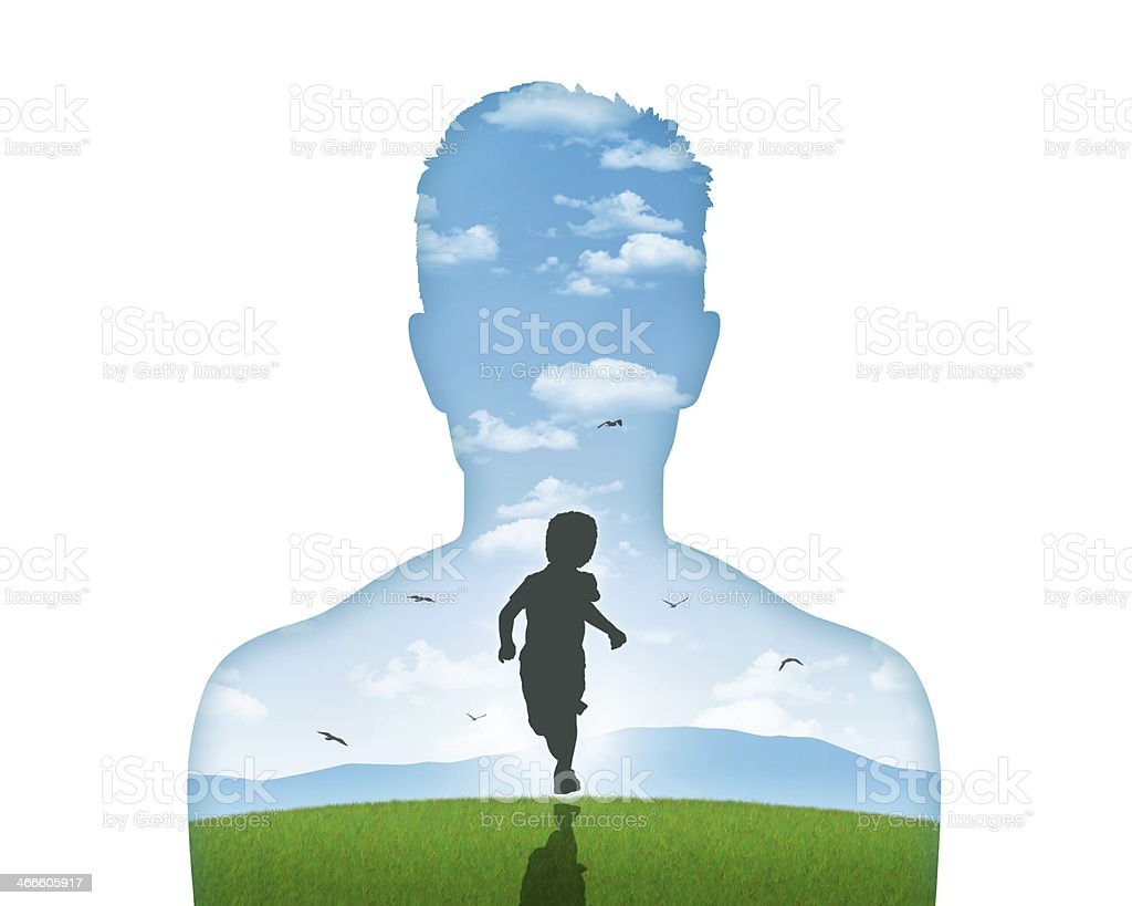 his inner child vector art illustration