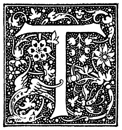 Historiated Initial Letter T
