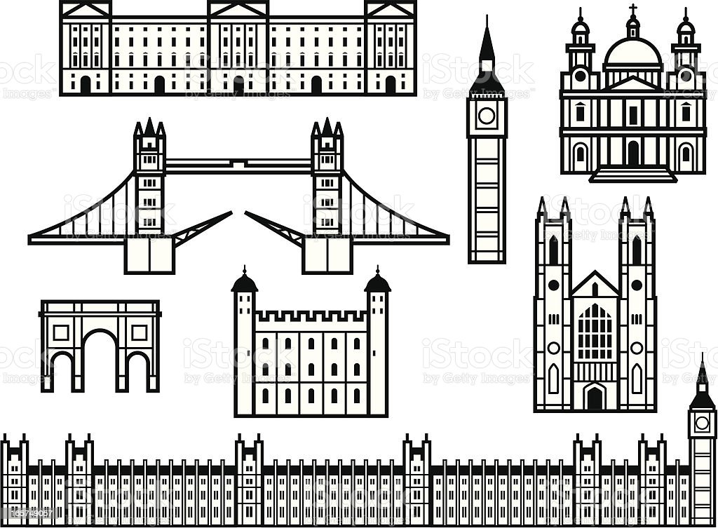 royalty free tower of london clip art  vector images