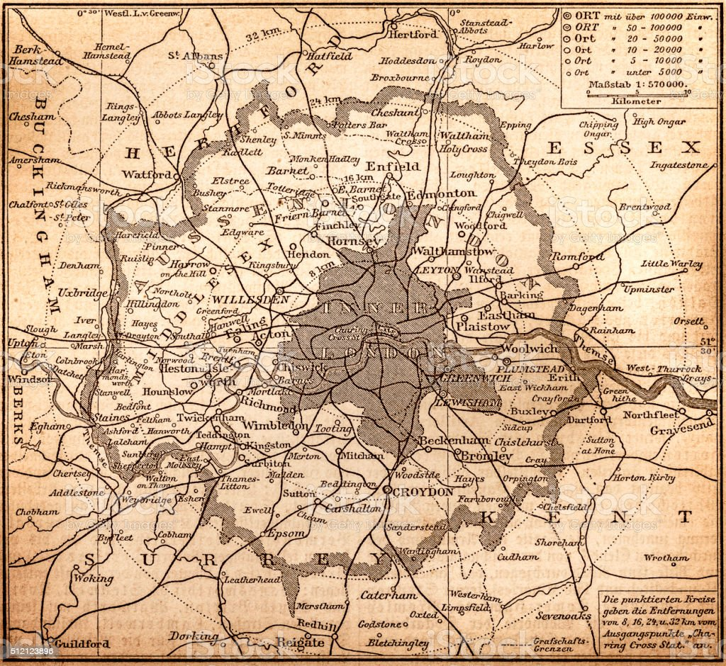 Map Of City Of London.Historic Map Of London Stock Illustration Download Image Now Istock