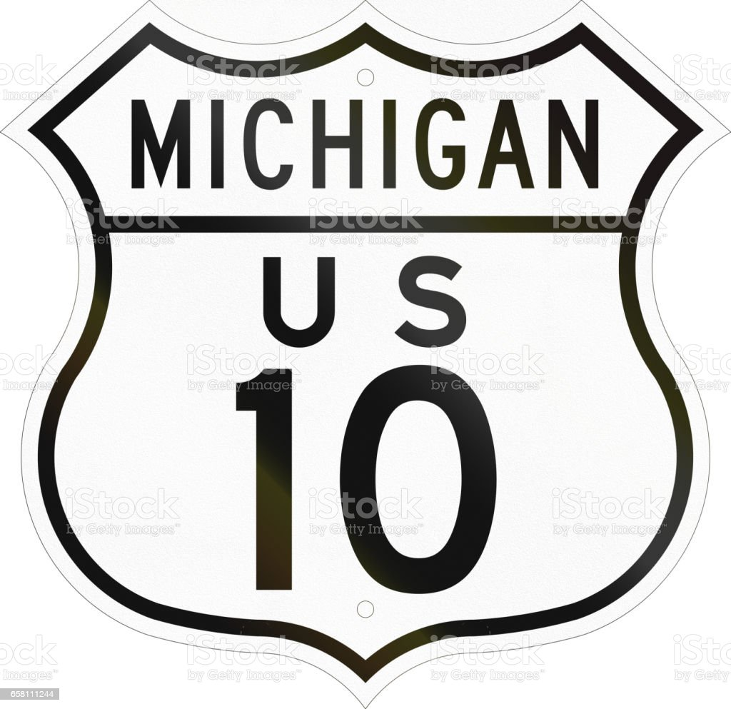 Historic Michigan Highway Route shield from 1948 used in the US royalty-free historic michigan highway route shield from 1948 used in the us stock vector art & more images of 1948