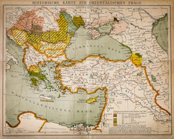 ilustrações, clipart, desenhos animados e ícones de mapa histórico da parte oriental do mundo - mapa do oriente médio