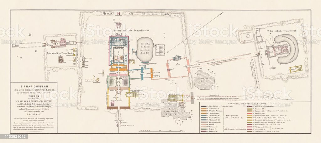 Historical Map Of The Temples Of Karnak Thebes Egypt ... on ancient egypt red sea map, thebes africa, thebes in egypt, mongolia on world map, city of thebes map,