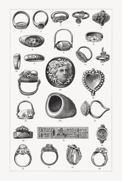 歷史戒指, 木雕, 出版于1897年 - martin luther king 幅插畫檔、美工圖案、卡通及圖標