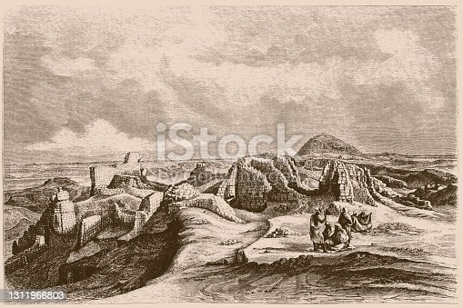 istock Historical view of the ruins of the archaeological site of Medinet Madi, El Fayyum, Egypt 1311966803