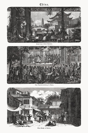 Historical views of China, wood engravings, published in 1893