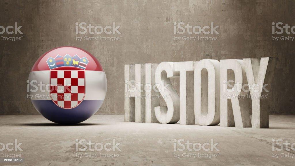 History Concept 免版稅 history concept 向量插圖及更多 克羅地亞國旗 圖片