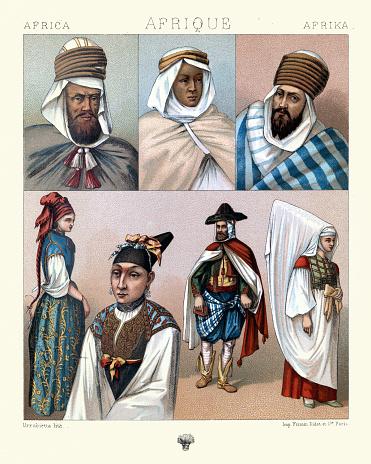 History, Fashion, North Africa, Arabs, Berbers, Jewesses of Algeria