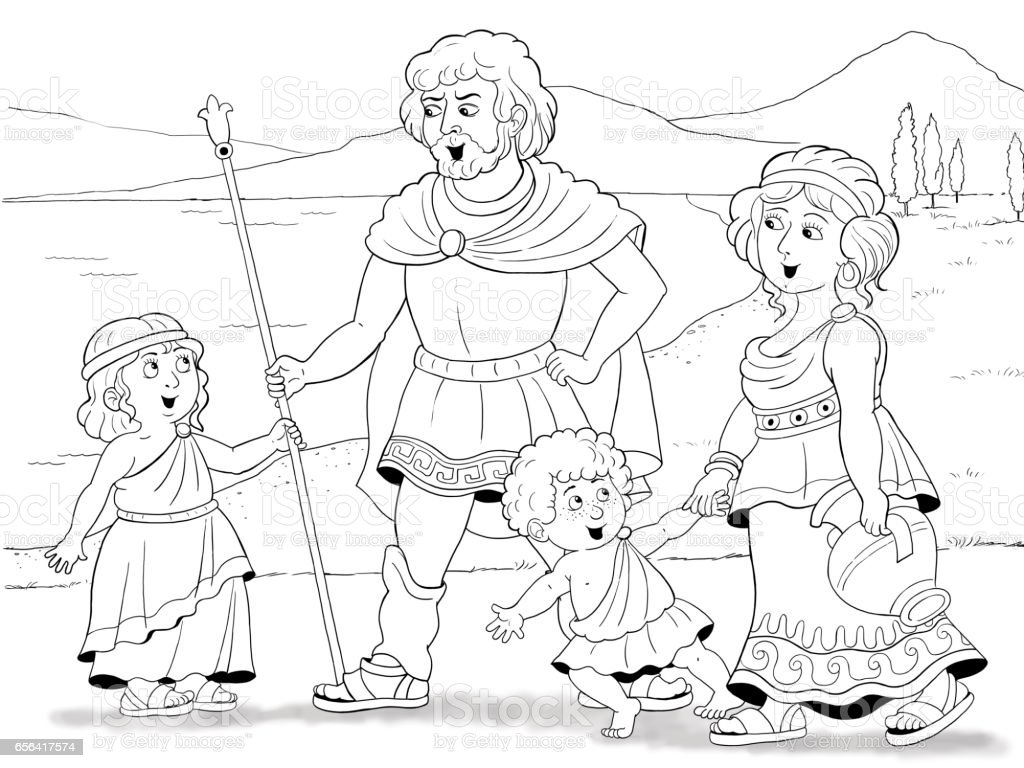 Aile Oykusu Moda Tarihinin Antik Yunanda Aile Boyama Sayfasi